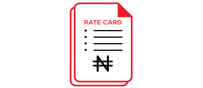 Max Rate Card